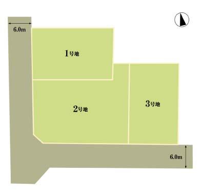香川県高松市木太町1区 区画内3区画区画図